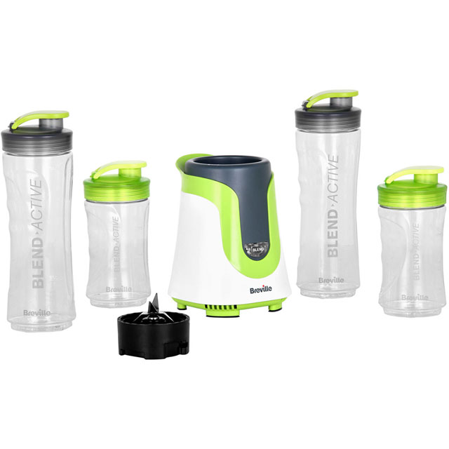 Breville Blend-Active Family Pack  VBL096 Smoothie Maker in White / Green