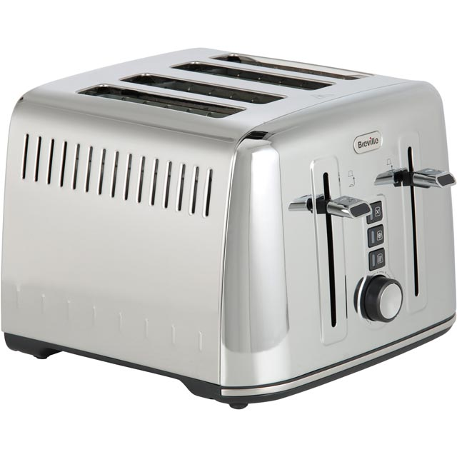 Breville The Perfect Fit For Warburtons VTT571 4 Slice Toaster - Stainless Steel