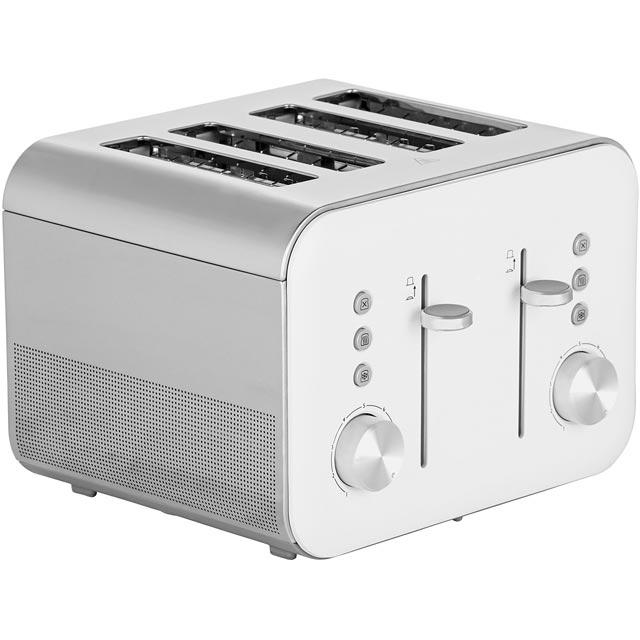 Breville High Gloss VTT687 4 Slice Toaster - White