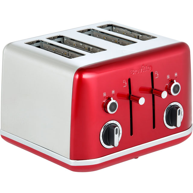 Breville Lustra 4 Slice Toaster - Candy Red