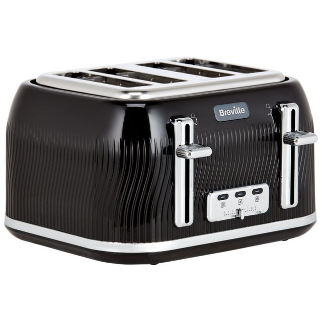 Breville Flow Collection VTT890 4 Slice Toaster - Black