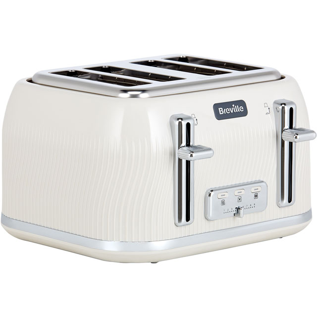 Breville Flow Collection VTT891 4 Slice Toaster - Cream - VTT891_CR - 1