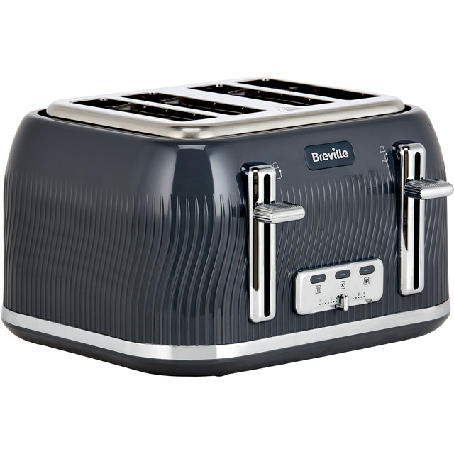 Breville Flow Collection VTT892 4 Slice Toaster - Grey