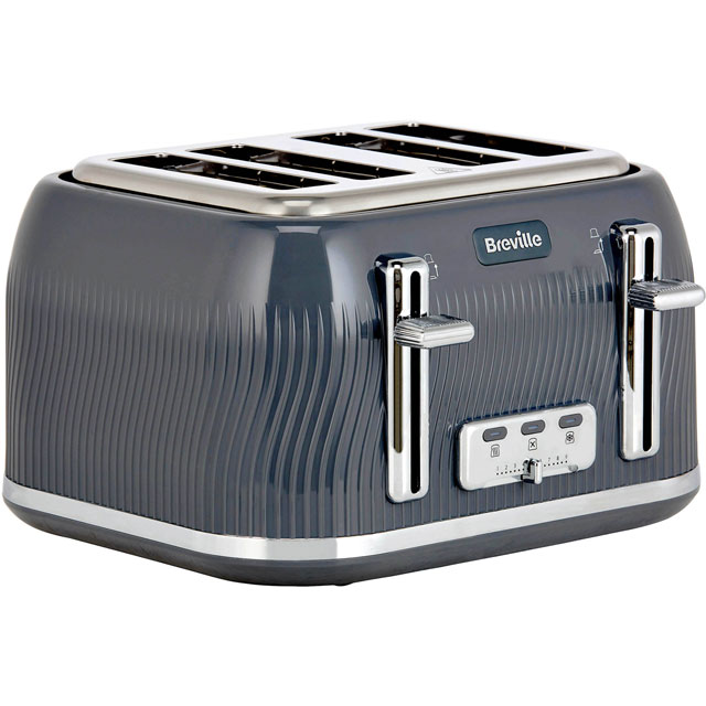 Breville Flow Collection VTT892 4 Slice Toaster - Grey - VTT892_GY - 1
