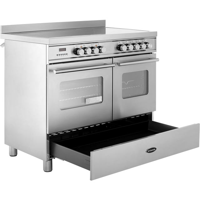 Britannia RC-10TI-DE-CR Delphi 100cm Electric Range Cooker - Cream - RC-10TI-DE-CR_CR - 4