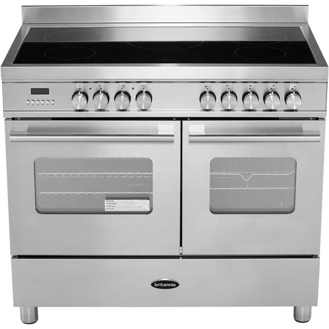 Britannia RC-10TI-DE-CR Delphi 100cm Electric Range Cooker - Cream - RC-10TI-DE-CR_CR - 5