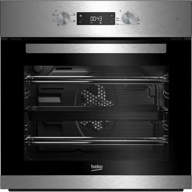 Beko EcoSmart BRIF22300X Built In Electric Single Oven - Stainless Steel - A Rated - BRIF22300X_SS - 1
