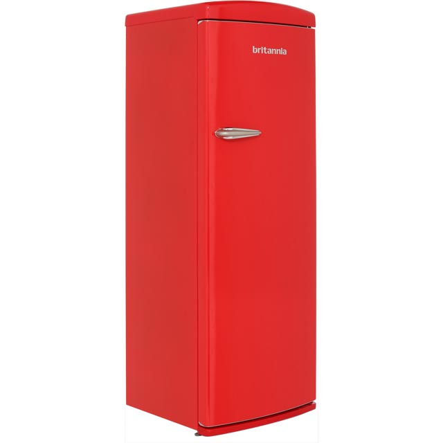 Britannia Breeze Retro Free Standing Refrigerator in Red