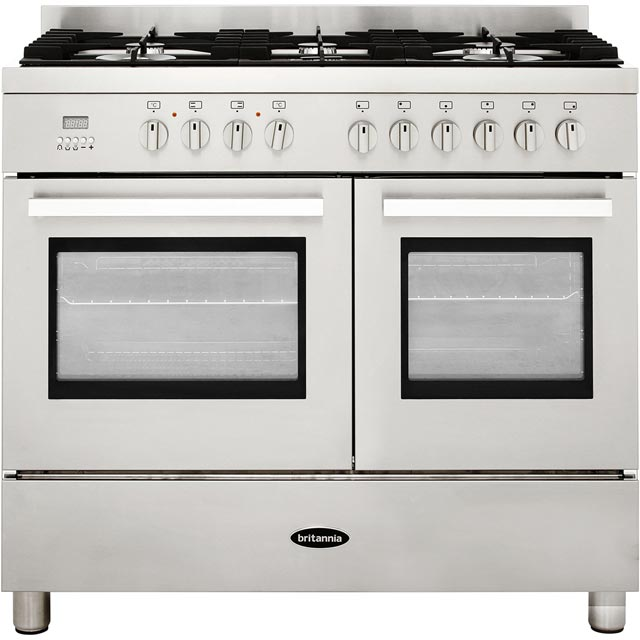 Britannia Stanza 544446306 100cm Dual Fuel Range Cooker - Stainless Steel - A Rated - 544446306_SS - 1