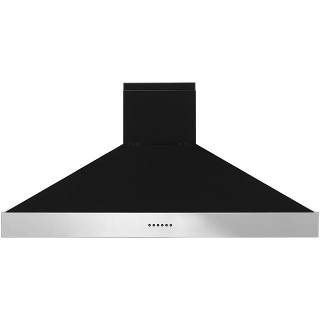 Britannia Latour HOOD-BTH120-GB 120 cm Chimney Cooker Hood - Black Gloss - A Rated - HOOD-BTH120-GB_BG - 1