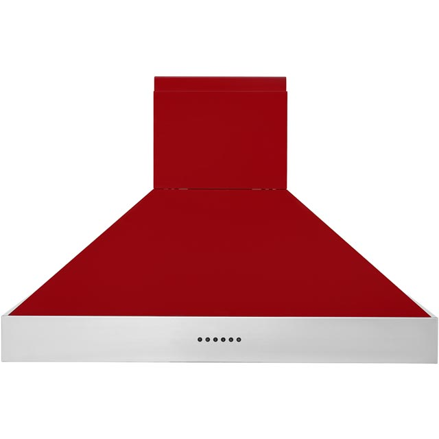 Britannia Latour HOOD-BTH90-GR 90 cm Chimney Cooker Hood - Red - A Rated - HOOD-BTH90-GR_RD - 1