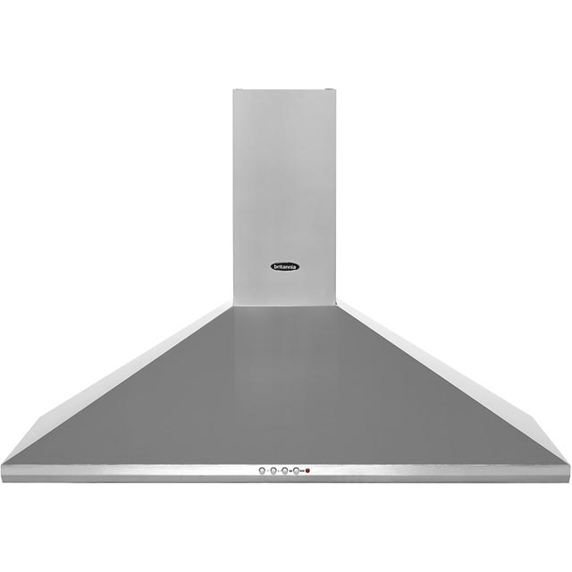 Britannia Brioso HOOD-K240-10-S 100 cm Chimney Cooker Hood - Stainless Steel - D Rated - HOOD-K240-10-S_SS - 1