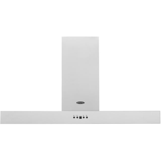 Britannia Arioso HOOD-K7088A10-S 100 cm Chimney Cooker Hood - Stainless Steel - C Rated - HOOD-K7088A10-S_SS - 1