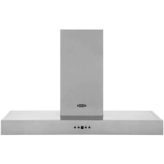 Britannia Arioso HOOD-K7088A90-S 90 cm Chimney Cooker Hood - Stainless Steel - C Rated - HOOD-K7088A90-S_SS - 1