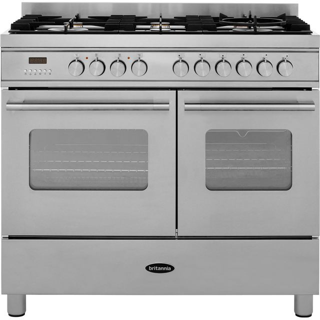 Britannia Delphi RC-10TG-DE-S 100cm Dual Fuel Range Cooker - Stainless Steel - A/A Rated