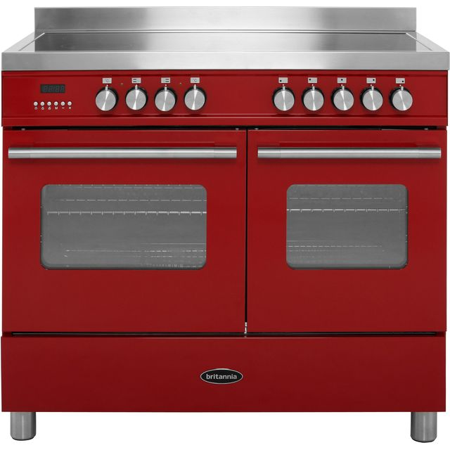 Britannia Delphi RC-10TI-DE-RED 100cm Electric Range Cooker with Induction Hob - Red - A/A Rated