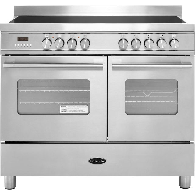 Britannia Delphi RC-10TI-DE-S 100cm Electric Range Cooker with Induction Hob - Stainless Steel - A/A Rated