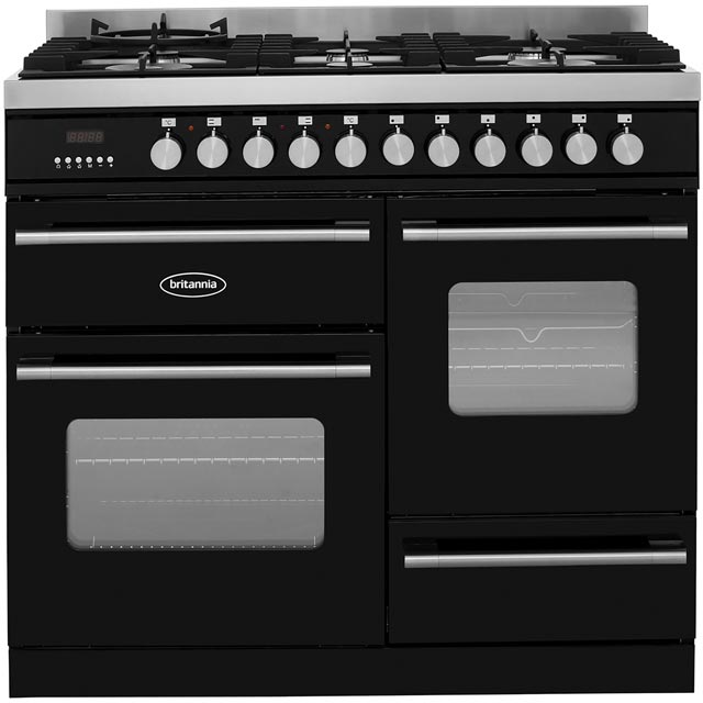 Britannia Delphi 100cm Dual Fuel Range Cooker - Black - A/A Rated