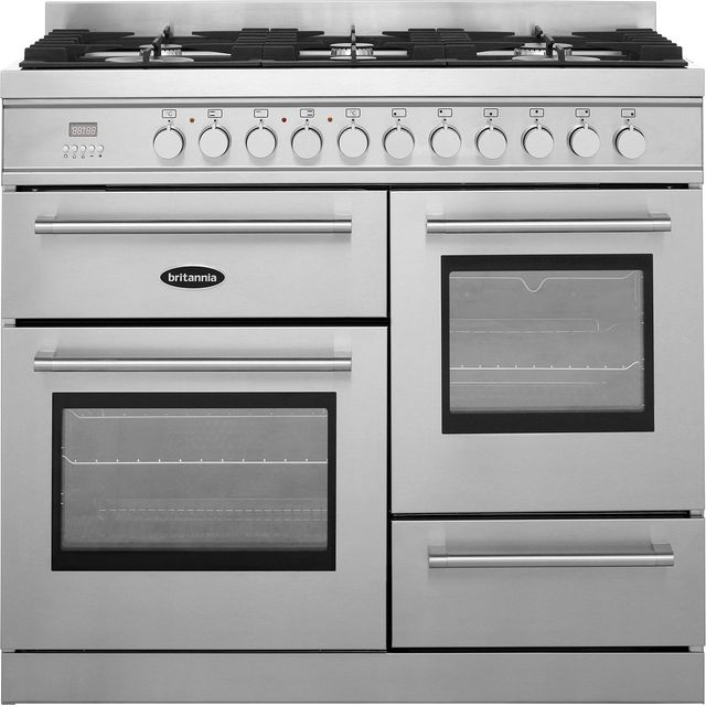 Britannia Q Line RC-10XGG-QL-S 100cm Dual Fuel Range Cooker - Stainless Steel - A/A Rated