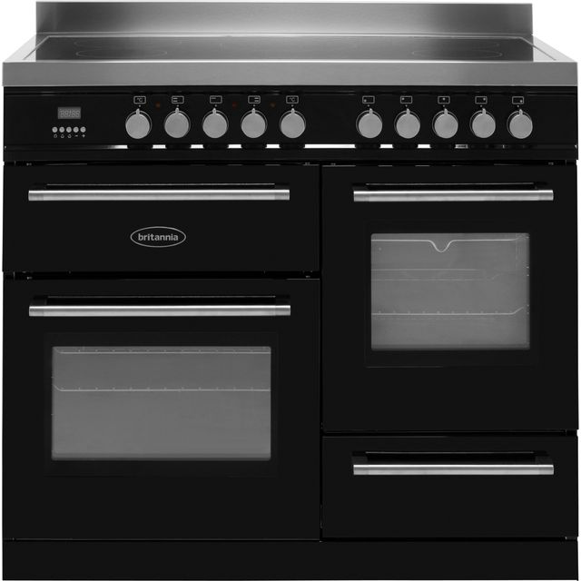 Britannia Q Line RC-10XGI-QL-K 100cm Electric Range Cooker with Induction Hob - Black - A Rated - RC-10XGI-QL-K_BK - 1