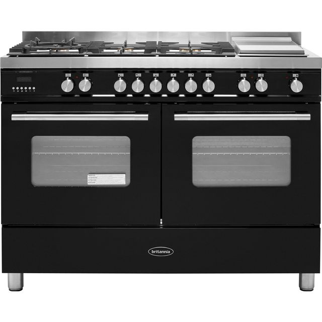 Britannia Delphi 120cm Dual Fuel Range Cooker - Black - A Rated