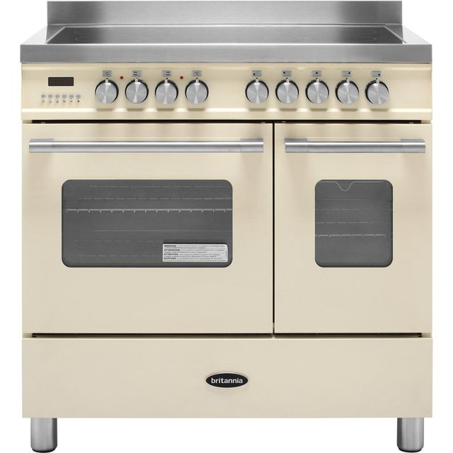 Britannia Delphi RC-9TI-DE-CR 90cm Electric Range Cooker with Induction Hob - Cream - A/A+ Rated - RC-9TI-DE-CR_CR - 1