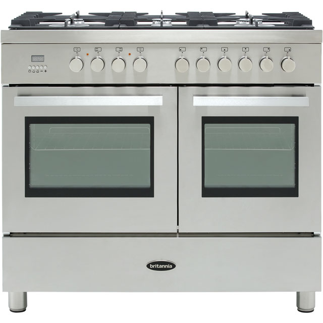 Britannia Sonetto 100DF TC 100cm Dual Fuel Range Cooker - Stainless Steel - A/A Rated - Sonetto 100DF TC_SS - 1