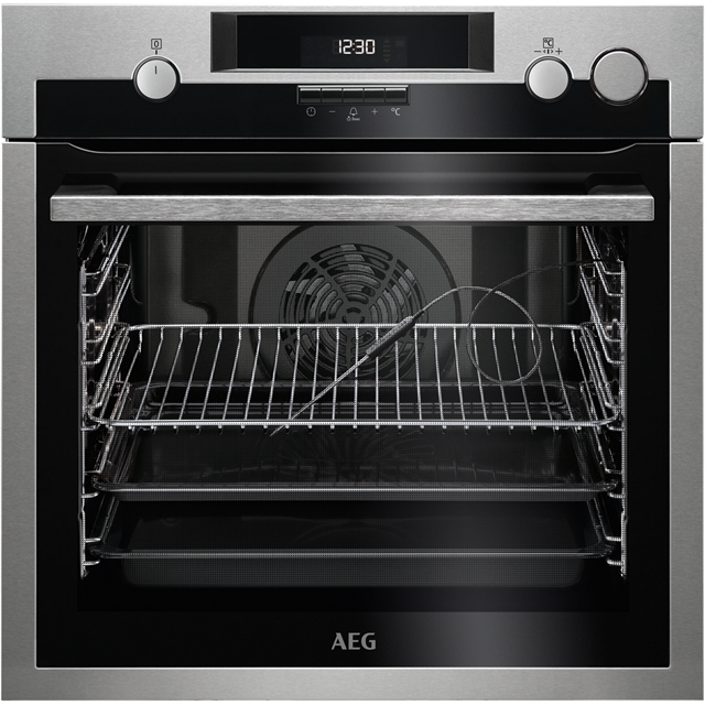 AEG Mastery BSE574221M Built In Electric Single Oven with added Steam Function - Stainless Steel - BSE574221M_SS - 1