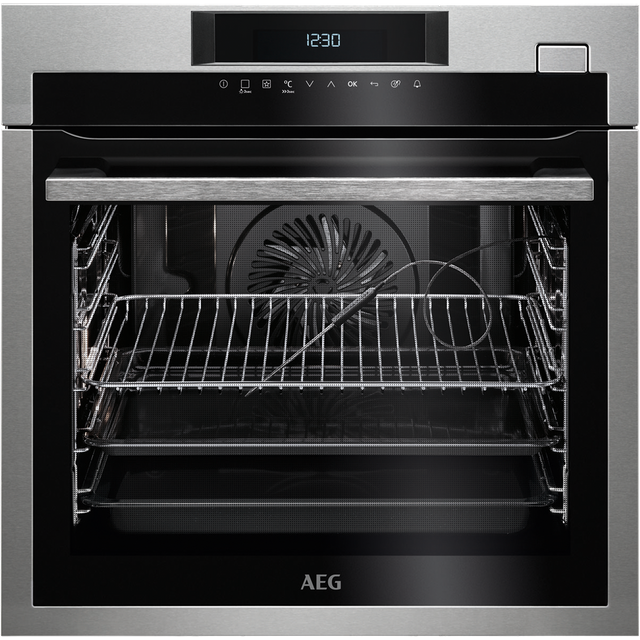 AEG Mastery BSE774320M Built In Electric Single Oven with added Steam Function - Stainless Steel - A+ Rated - BSE774320M_SS - 1