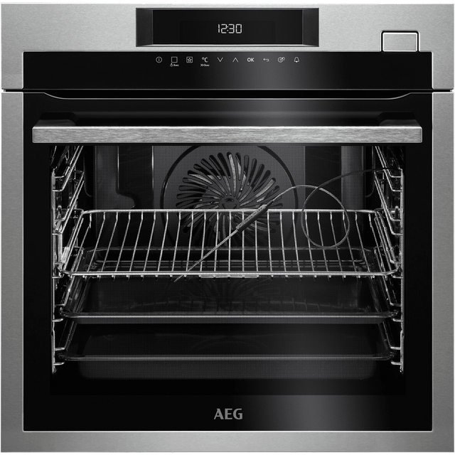 AEG Mastery BSE782320M Built In Electric Single Oven with added Steam Function - Stainless Steel - A+ Rated - BSE782320M_SS - 1