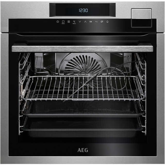 AEG Mastery BSE792320M Built In Electric Single Oven with added Steam Function - Stainless Steel - A+ Rated - BSE792320M_SS - 1