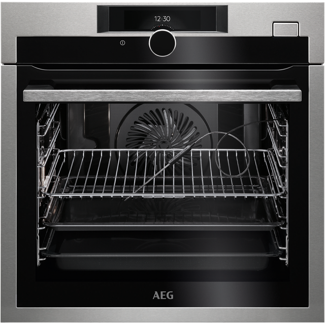 AEG Mastery BSE882320M Built In Electric Single Oven with added Steam Function - Stainless Steel - BSE882320M_SS - 1