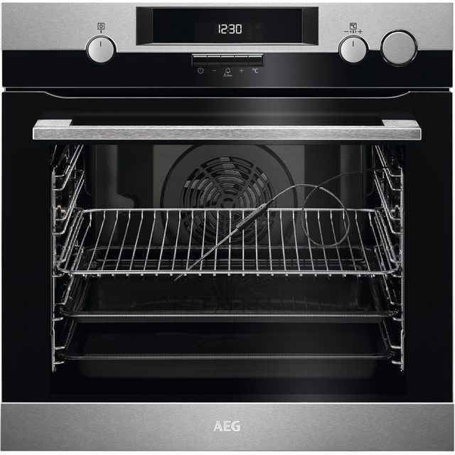 AEG BSK574221M Built In Electric Single Oven with added Steam Function - Stainless Steel - A+ Rated