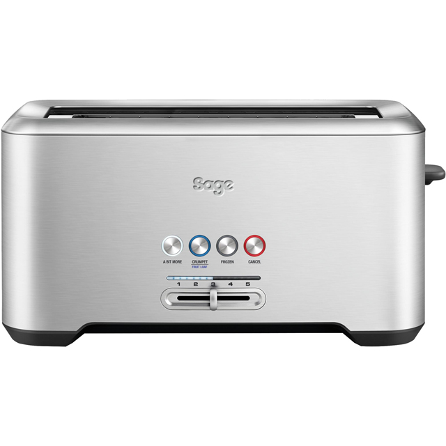 Sage The Bit More 4 Slice BTA730UK 4 Slice Toaster - Stainless Steel