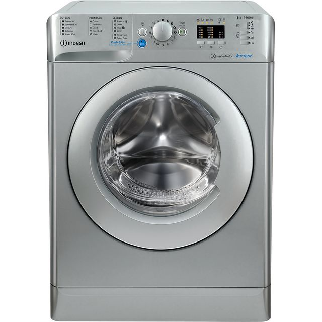 Indesit BWA81483XSUKN 8Kg Washing Machine with 1400 rpm - Silver - A+++ Rated