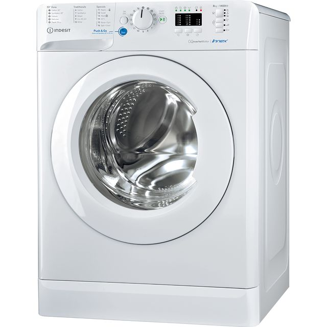 Indesit BWA81484XWUKN 8Kg Washing Machine with 1400 rpm - White - A++ Rated - BWA81484XWUKN_WH - 1