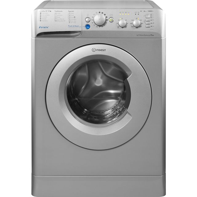 Indesit Innex BWC61452SUK 6Kg Washing Machine with 1400 rpm - Silver - A++ Rated - BWC61452SUK_SI - 1