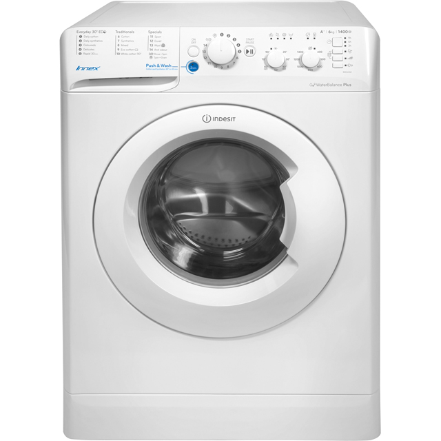 Indesit Innex BWC61452WUK 6Kg Washing Machine with 1400 rpm - White - A++ Rated - BWC61452WUK_WH - 1