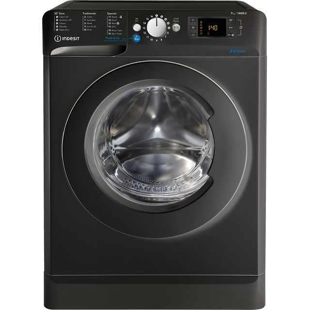 Indesit BWE71452KUKN 7Kg Washing Machine with 1400 rpm - Black - A+++ Rated - BWE71452KUKN_BK - 1