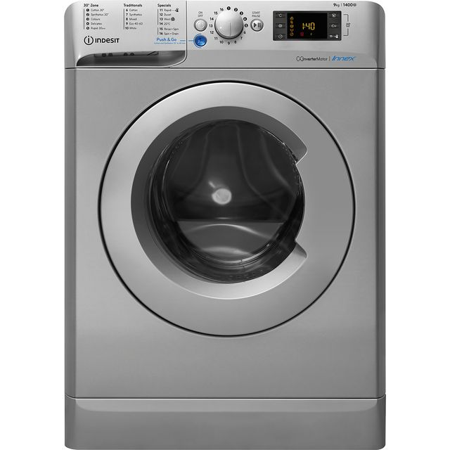 Indesit BWE91483XSUKN 9Kg Washing Machine with 1400 rpm - Silver - A+++ Rated