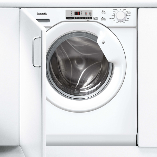 Baumatic BWMI1472D3/1 Integrated 7Kg Washing Machine with 1400 rpm - A+++ Rated - BWMI1472D3/1_WH - 1