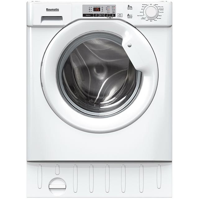 Baumatic BWMI148D Integrated 8Kg Washing Machine with 1400 rpm - A+++ Rated Best Price, Cheapest Prices
