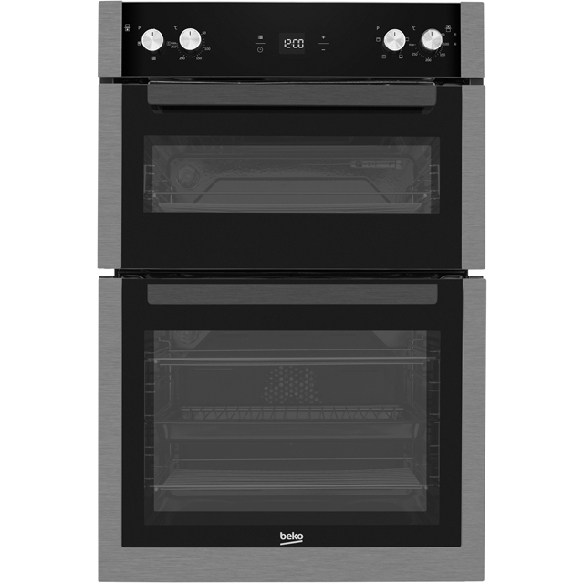 Beko BXDF29300Z Built In Double Oven - Black Steel - A/A Rated - BXDF29300Z_BS - 1