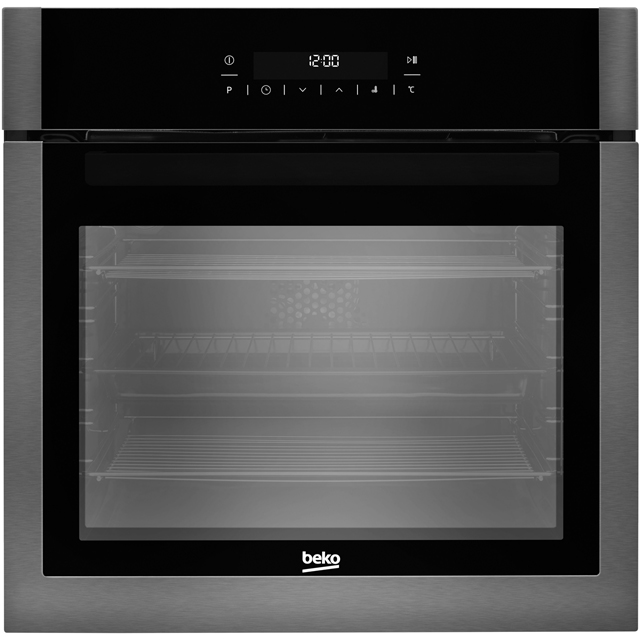 Beko BXIM29400Z Built In Electric Single Oven - Black Steel - A+ Rated - BXIM29400Z_BS - 1