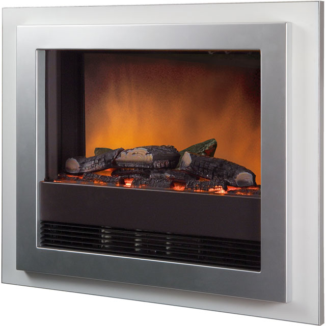 Dimplex Bizet BZT20E Log Effect Wall Mounted Fire With Remote Control - Silver