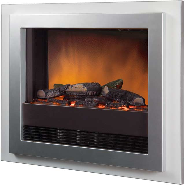 Dimplex Bizet BZT20N Log Effect Wall Mounted Fire With Remote Control - Silver - BZT20N_SI - 1