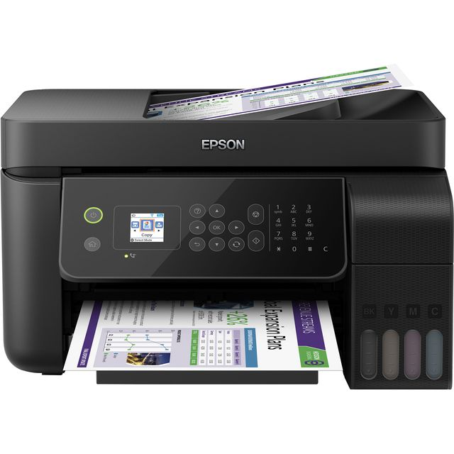 Epson EcoTank ET-4700 Inkjet Printer Includes Two Year Unlimited Printing Card - Black