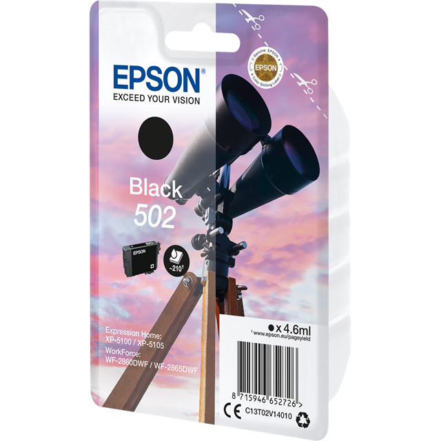 Epson C13T02V14010 Printer Ink in Black