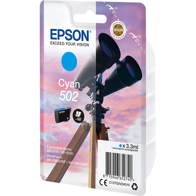 Epson C13T02V24010 Printer Ink in Cyan