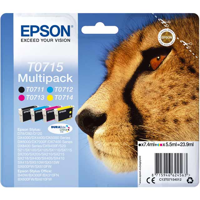 Epson Multipack 4-colours T0715 DURABrite Ultra Ink Cartridge